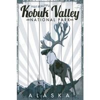 Marmont Hill - 'Travel Alaska' Painting Print on White Wood
