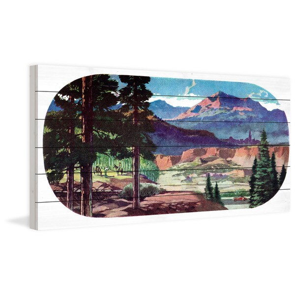 Marmont Hill - Handmade New Mexico Painting Print on White Wood