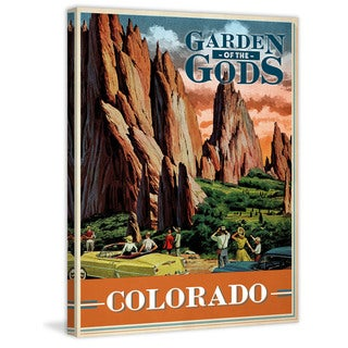 Marmont Hill - 'Travel Colorado' Painting Print on Wrapped Canvas - Orange