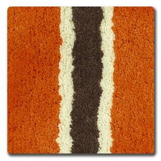 Bathtopia Ace Microfiber Stripe 16 x 24 in. Bath Rug