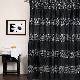 white and black shower curtain. Luxury Shower Curtain And Hooks Set Or Separates White Black