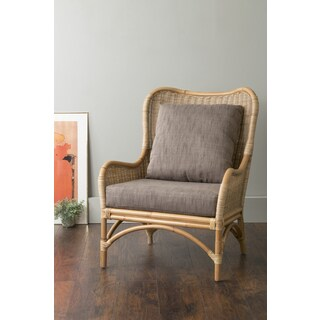 east at mainu0027s lyndon brown square rattan accent chair