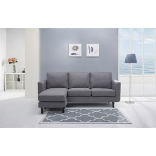 Everett Ash Convertible Sectional with Reversible Ottoman