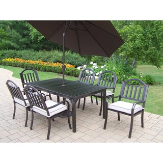 Hometown Brown Iron and Oatmeal Cushioned 9-piece Patio Dining Set