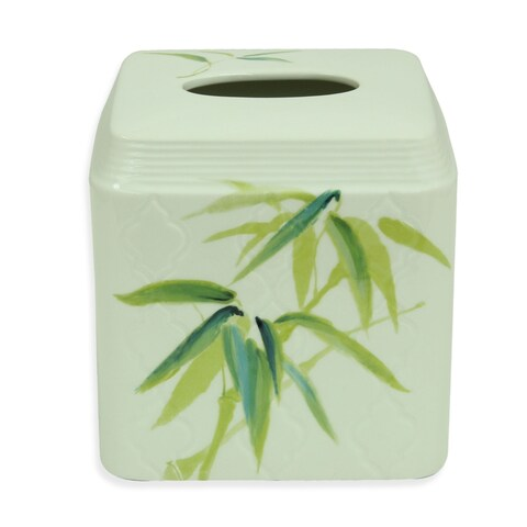 Zen Bamboo Multicolor Ceramic Tissue Holder