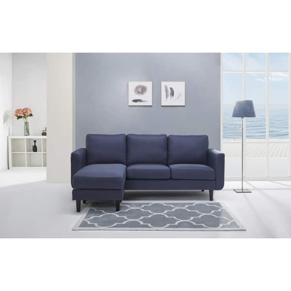 Surprising Shop Everett Blue Convertible Sofa And Ottoman Free Machost Co Dining Chair Design Ideas Machostcouk
