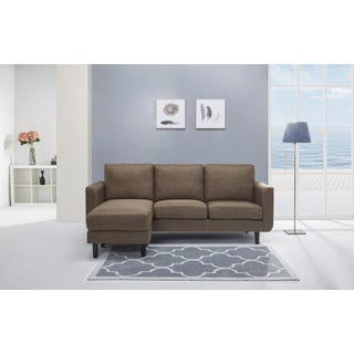 Everett Ceramic Convertible Sectional with Reversible Ottoman