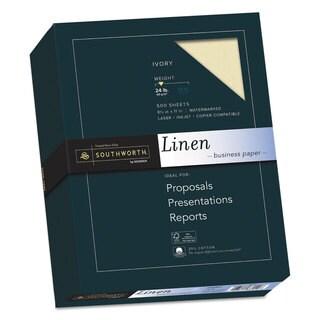 Southworth 25-percent Cotton Linen Business Paper Ivory 24-pound 8 1/2 x 11 500 Sheets