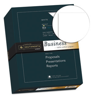 Southworth 100-percent Cotton Business Paper 20-pound 95 Bright 8 1/2 x 11 500 Sheets