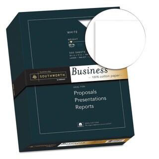 Southworth 100-percent Cotton Business Paper 20-pound 95 Bright 8 1/2 x 11 500 Sheets