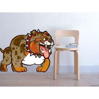 Full color English Bulldog sticker, English Bulldog decal, wall art decal Sticker Decall size 44x60