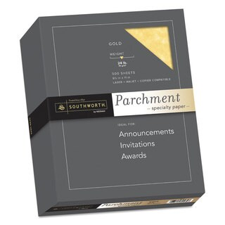 Southworth Parchment Specialty Paper Gold 24lb 8 1/2 x 11 500 Sheets