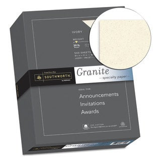 Southworth Granite Specialty Paper Ivory 24-pound 8 1/2 x 11 25-percent Cotton 500 Sheets