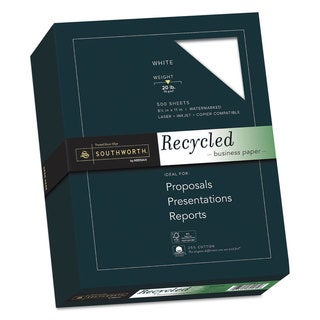 Southworth 25-percent Cotton Recycled Business Paper 20-pound 90 Bright 8 1/2 x 11 500 Sheets