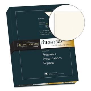 Southworth 100-percent Cotton Business Paper Ivory 32-pound 8 1/2 x 11 250 Sheets