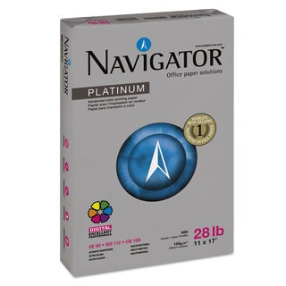 Navigator Platinum Paper 99 Brightness 28-pound 11 x 17 White 2500/Carton