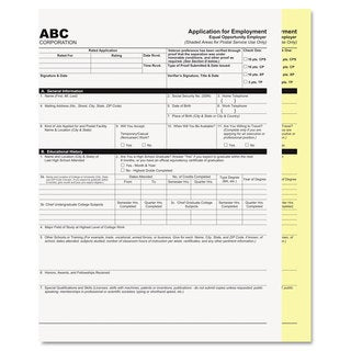 PM Company Digital Carbonless Paper 8-1/2 x 11 Two-Part Collated White/Canary 2500 Sets