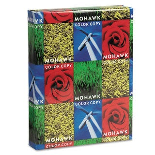 Mohawk Copier Gloss Cover Paper 100-pound 94 Bright Letter Pure White 250 Sheets