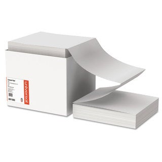Universal Computer Paper, 20lb, 9-1/2 x 11, Letter Trim Perforations, White, 2400 Sheets