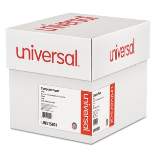 Universal Computer Paper, 18lb, 9-1/2 x 11, Letter Trim Perforations, White, 2700 Sheets