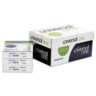 Universal One Multipurpose Paper 98 Brightness 20-pound 8-1/2 x 11 Bright White 5000 Shts/Cartonn