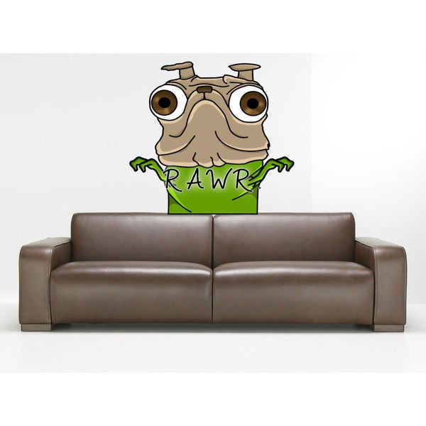 6f5edb3a3d3 Shop Full color Pug sticker