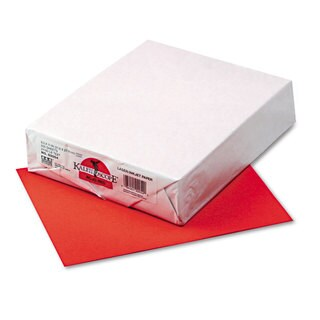 Pacon Kaleidoscope Multipurpose Colored Paper 24-pound 8-1/2 x 11 Rojo Red 500 Shts/Rm