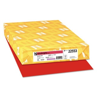 Astrobrights Color Paper 24-pound 11 x 17 Re-Entry Red 500 Sheets