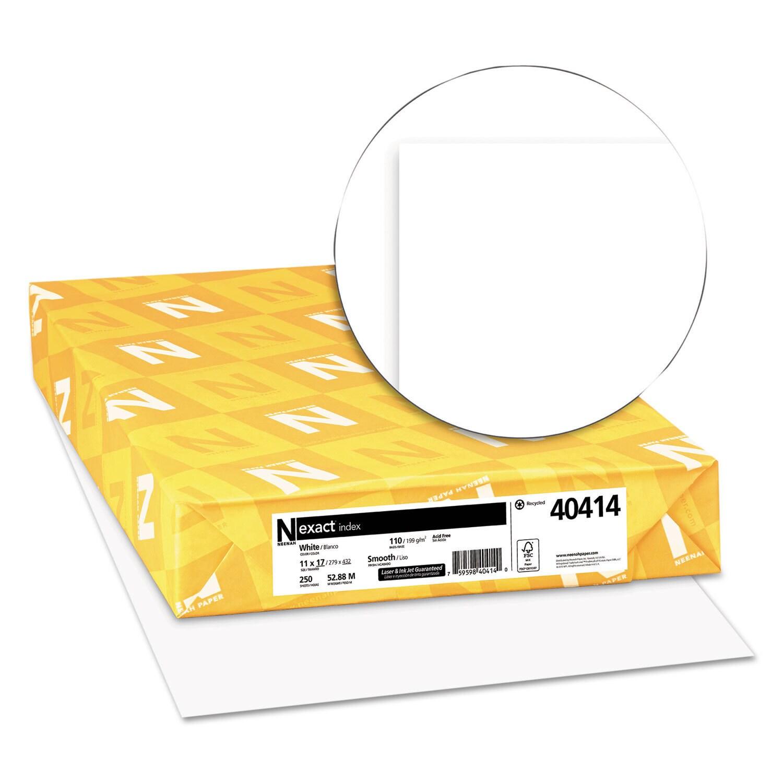 Neenah Paper Exact Index Card Stock 110lb 92 Bright 11 x ...