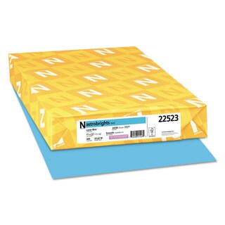 Astrobrights Color Paper 24-pound 11 x 17 Lunar Blue 500 Sheets