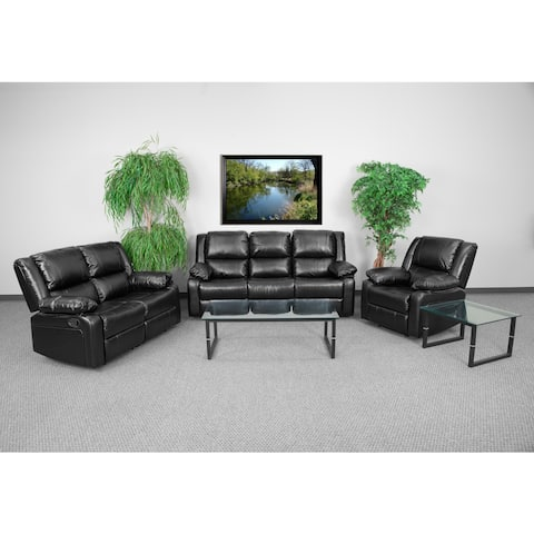 Copper Grove Malheur Leather Living Room Sofa Set