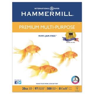Hammermill Premium Multipurpose Paper 20-lb. 8-1/2 x 11 White 5000/Carton