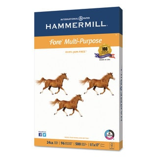 Hammermill Fore MP Multipurpose Paper 96 Bright 24-pound 11 x 17 White 500 Sheets