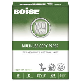 Boise X-9 Multi-Use Copy Paper 92 Bright 20-pound 8-1/2 x 11 White 2500 Sheets/Carton