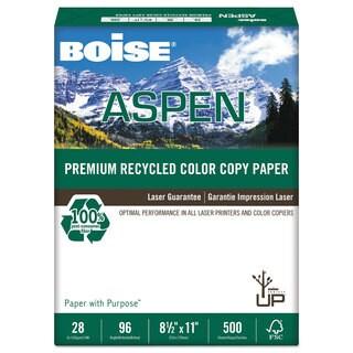 Boise ASPEN Premium Recycled Paper 96 Bright 28-pound Letter White 500 Sheets