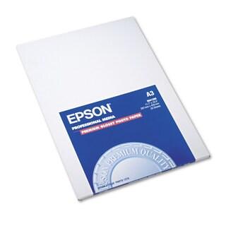 Epson Premium Photo Paper 68-pound High-Gloss 11-3/4 x 16-1/2 20 Sheets/Pack
