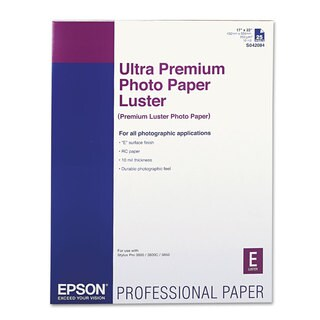 Epson Ultra Premium Photo Paper Luster 17 x 22 25 Sheets/Pack