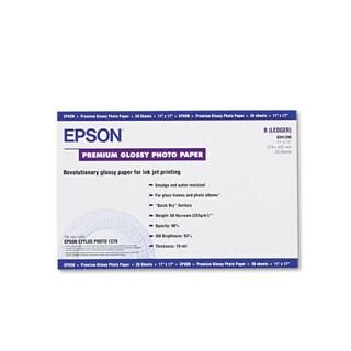 Epson Premium Photo Paper 68-pound High-Gloss 11 x 17 20 Sheets/Pack
