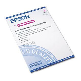Epson Glossy Photo Paper 60-pound Glossy 11 x 17 20 Sheets/Pack
