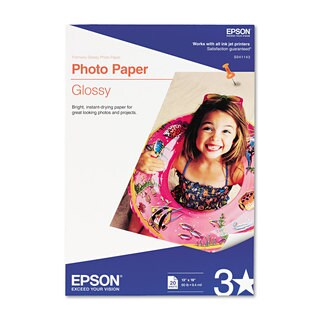 Epson Glossy Photo Paper 60-pound Glossy 13 x 19 20 Sheets/Pack
