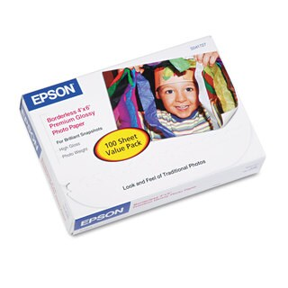 Epson Premium Photo Paper 68-pound High-Gloss 4 x 6 100 Sheets/Pack