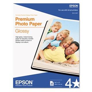 Epson Premium Photo Paper 68-pound High-Gloss 8-1/2 x 11 50 Sheets/Pack