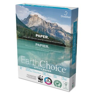 Domtar EarthChoice Office Paper 92 Brightness 20lb 8-1/2 x 11 White 5000/Carton