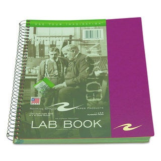 Roaring Spring Wirebound Lab Notebook Quadrille Rule Assorted Covers 11 x 9 100 Sheets/Pad