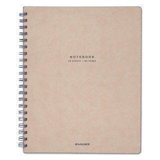 AT-A-GLANCE Collection Twinwire Notebook Legal 8 3/4-inch x 11-inch Tan/Navy Blue 80 Sheets