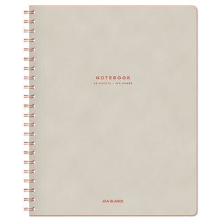 AT-A-GLANCE Collection Twinwire Notebook Legal 8 3/4 inches x 11 inches Tan/Red 80 Sheets
