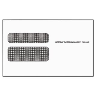 TOPS Double Window Tax Form Envelope for W-2 Laser Forms 9x5-5/8 50/Pack