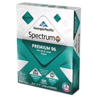 Georgia Pacific Spectrum Premium 96 Inkjet/Laser Paper 24lb 8 1/2 x 11 White 1500 Sht/Carton