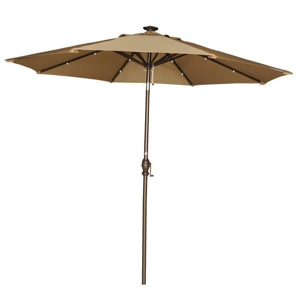 Shop Abba Patio 9-Foot Brown Tilt/Crank Umbrella With