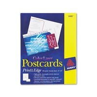 Avery Postcards Color Laser Printing 4 x 6 Uncoated White 2 Cards/Sheet 80/Box